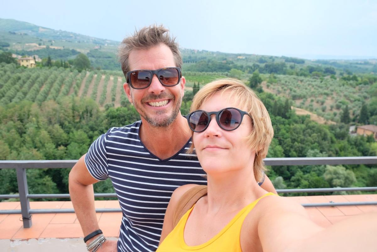 selfie Toscane