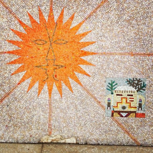 ing - Federal Building mosaic - sun and kachina