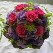 Brautstrauß pink violett