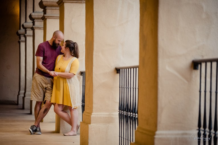 Zouls Photography Olivia & Nathan Engagement Session in Balboa Park
