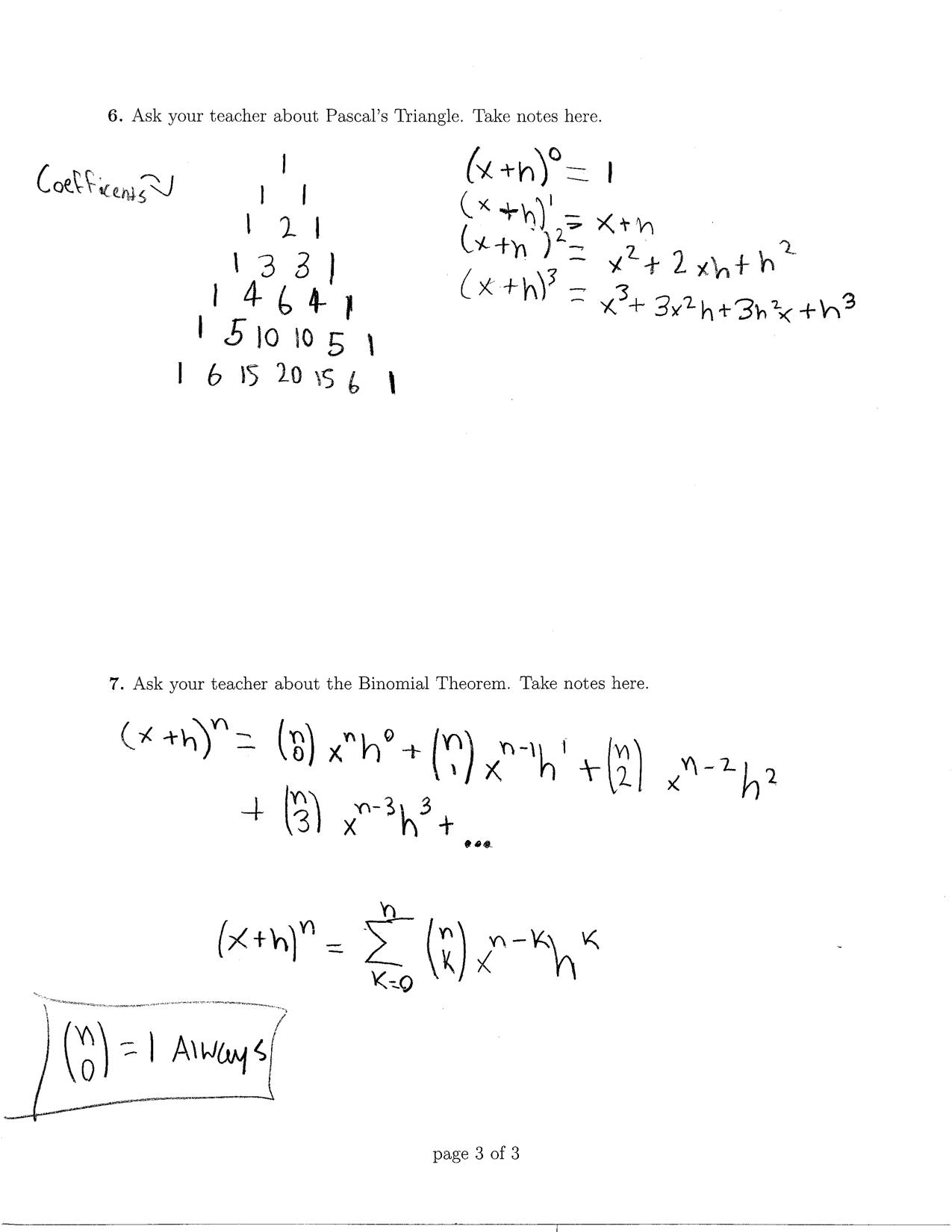 The Binomial Theory