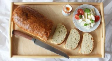 Zdjęcie - Cebulowo-serowa bułka paryska - Przepisy kulinarne ze zdjęciami