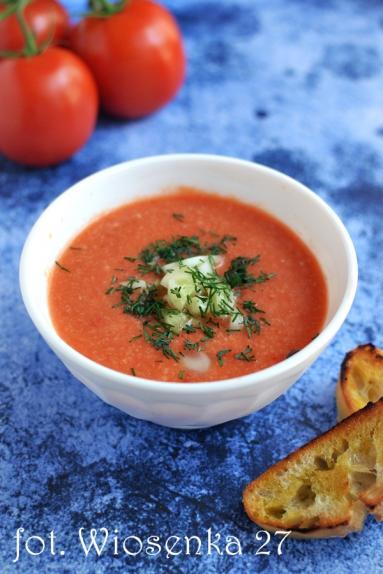 Zdjęcie - Gazpacho pomidorowe - Przepisy kulinarne ze zdjęciami