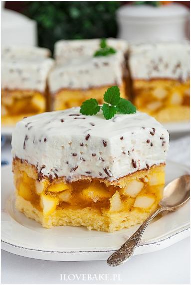 Zdjęcie - Jabłecznik straciatella - Przepisy kulinarne ze zdjęciami