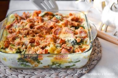 Zdjęcie - Mac'n'cheese z boczkiem i brokułami – U stóp Benbulbena - Przepisy kulinarne ze zdjęciami