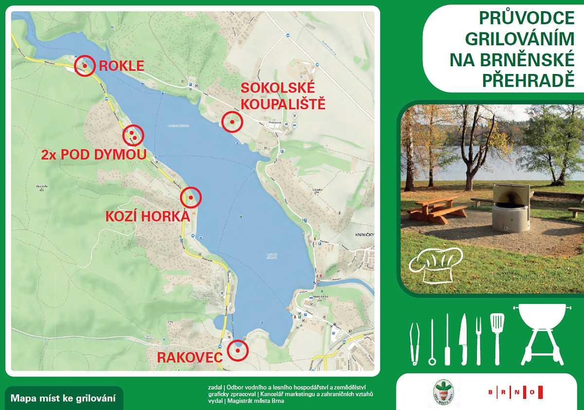 grilování na Brněnské přehradě