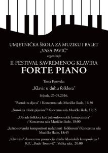 "II Festival savremenog klavira ""Fortepiano"""