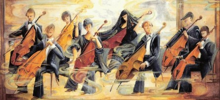 Art- Violin-Cello Players