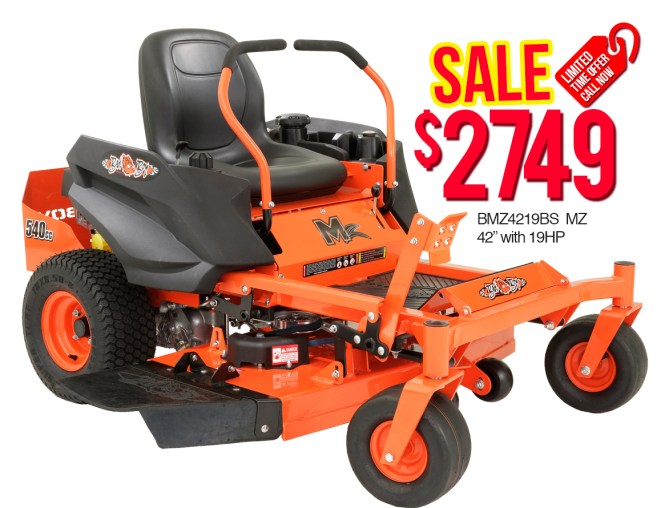 "Bad Boy BMZ4219BS MZ 42"" with 19HP $2749"