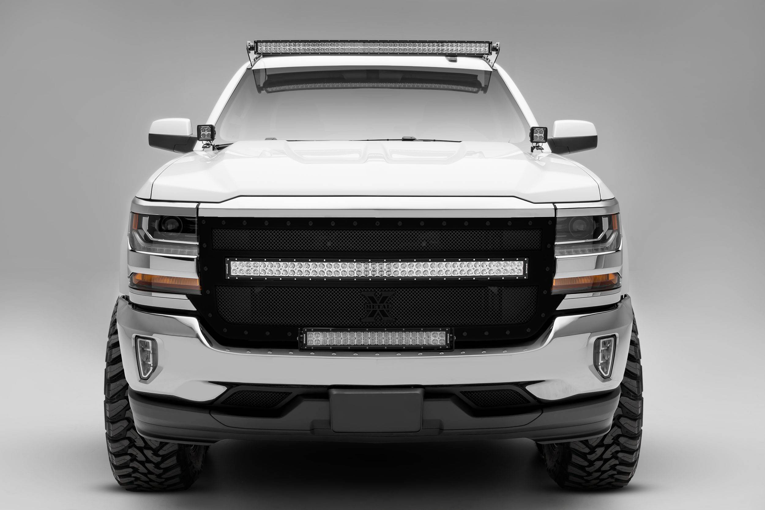 silverado sierra 1500 front roof led bracket to mount 50 inch staight led light bar pn z332181