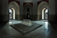 Humayun's cenotaph stands alone in the main chamber