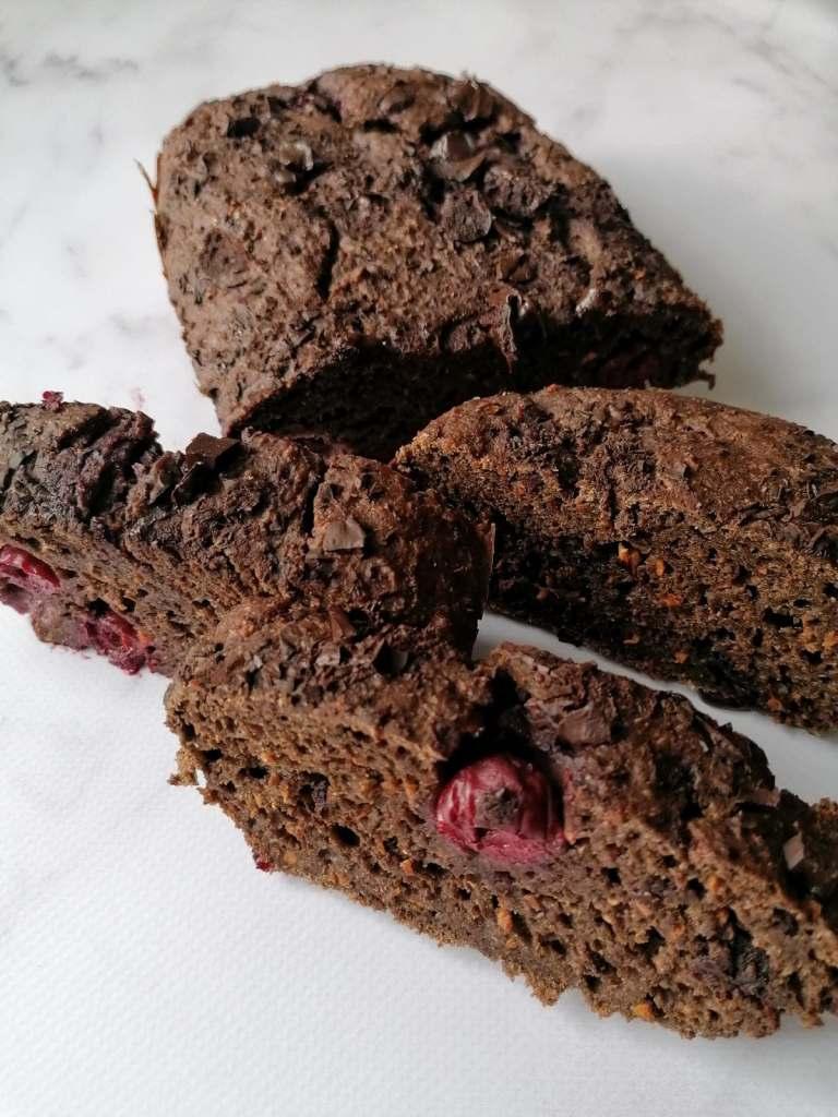 ciasto czekoladowo - wiśniowe