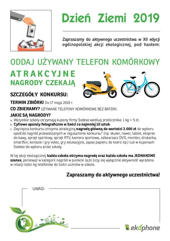 ODDAJ UŻYWANY TELEFON KOMÓRKOWY - POMAGAJĄC INNYM - POMAGASZ SWOJEJ SZKOLE