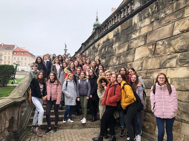 Wycieczka do Warszawy klas 1LLp i 1LZp