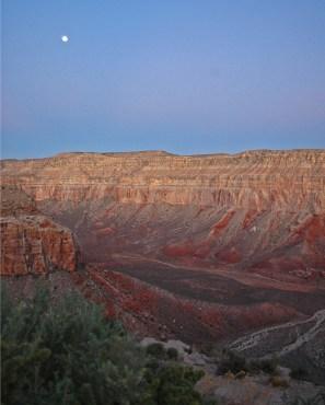 Pre-dawn light illuminates upper Havasu Canyon
