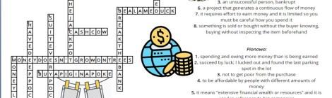 Prace uczniów w ramach lekcji z ekonomią