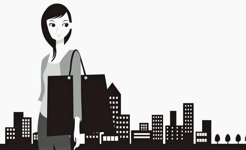 消費税増税を憂う女性