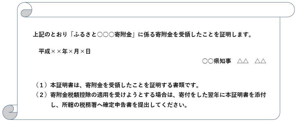 寄付金控除受領書01