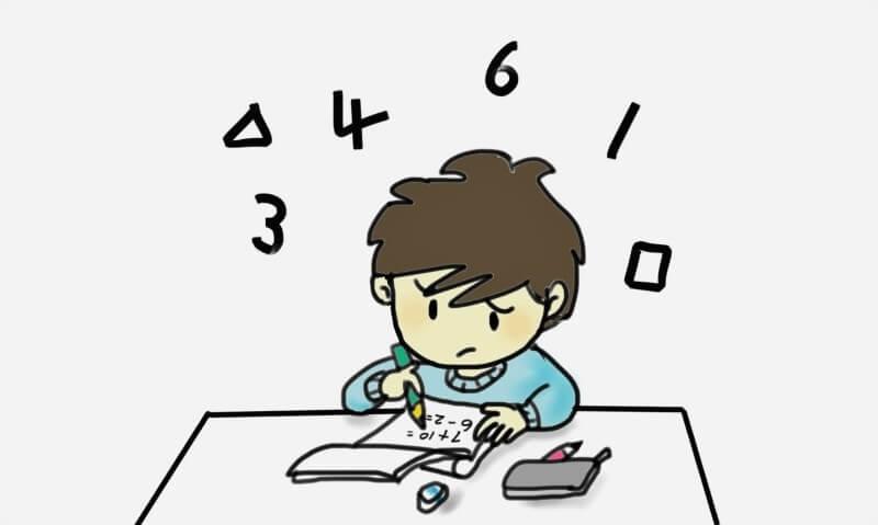 日数計算する少年