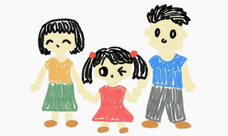 子供が描いた家族の絵