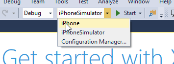 Xamarin iOS Visual Studio start simulator