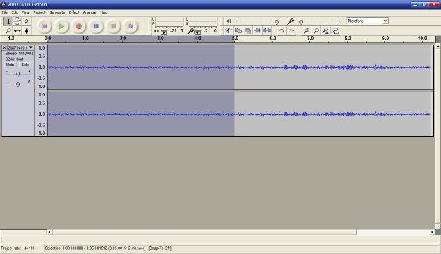Editando áudio com o Audacity
