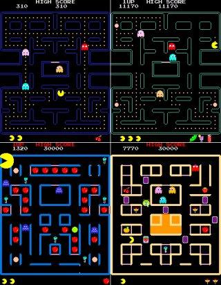 Os quatro jogos inclusos no Super Pac-Man TV Game