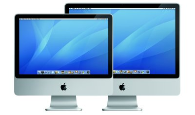 Novos iMac - Cortesia da Apple