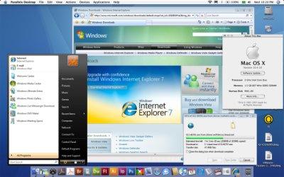 Mac OS X com Parallels Desktop