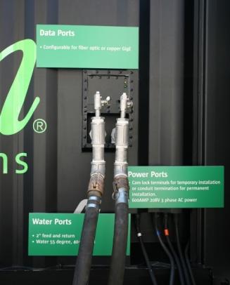 Portas de energia e conectividade no S20