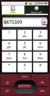 tela de discagem do Android