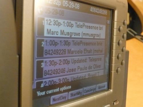 Telefone IP da Cisco controla as ligações da Telepresença