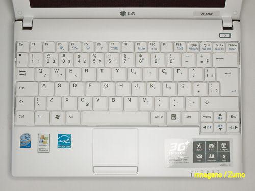 Mais um detalhe do teclado do LG X110