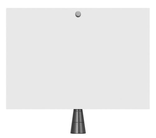 A tela do MPB200 pode ser uma folha de papel. Basta prender no suporte.