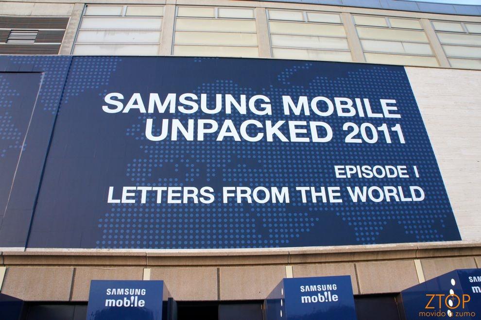Samsung Mobile Unpacked 2011 - a entrada do evento