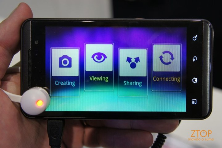Ainda o tutorial de como fazer, ver, compartilhar, conectar no Optimus 3D