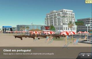 Ilha de Copacabana no Second Life.