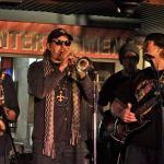 With Bill Churchville, Cary Park and Vince Tividad.- Nervis Bros - Mardi Gras, Hollywood - 2013 - courtesy Jacki Sackheim