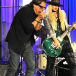 WIth Orianthi at the Grammy Museum - 2013 - courtesy & copyright Robert King
