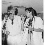 With Rod Stewart- Sasch Night Club- Los Angeles, 1984