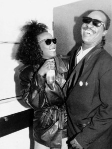 Whitney Houston and Stevie Wonder Back Stage at Nelson Mandela Birthday Concert