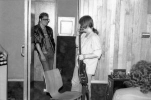 Rick Derringer and JImmy Z discussing guitar techniques