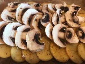 Ofenkartoffeln mit Pilzen