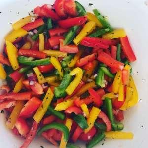 Zutaten Paprika Salat