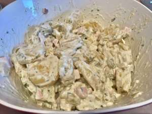Pellkartoffelsalat mit Joghurt Zubereitung