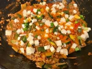 Mediterrane Paprika Zucchini Hackfleisch Pfanne Zubereitung