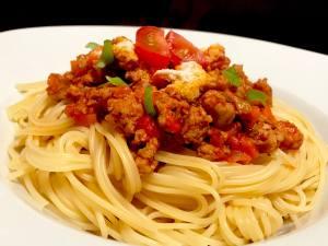 Serviervorschlag Spaghetti Bolognese