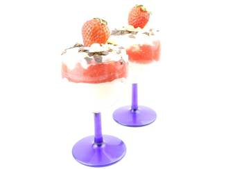 Erdbeeren Mascarpone Sahne Dessert