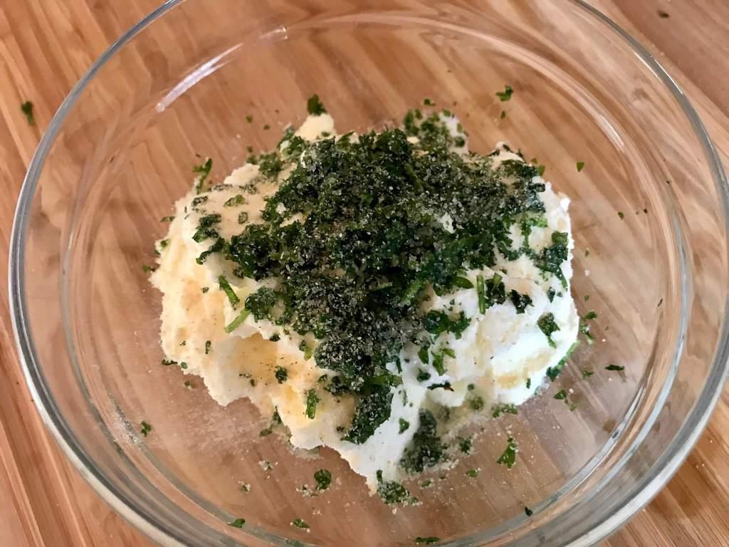 Zubereitung Kräuter Joghurt Dip