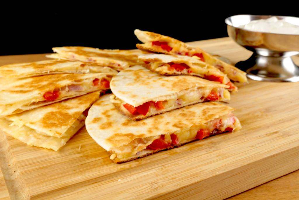 Käse Quesadillas mit Paprika